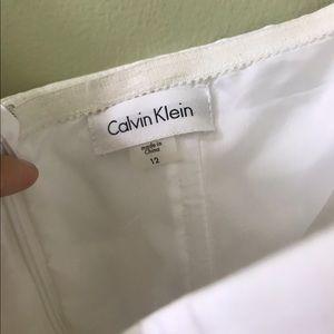 White Calvin Klein Strapless